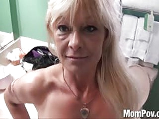 sex Ex stripper cougar does first porn BTS