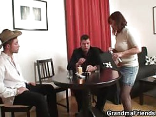 Strip poker to hard threesome