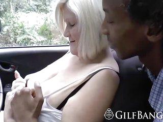 African sex machine banging girlfriend and a GILF