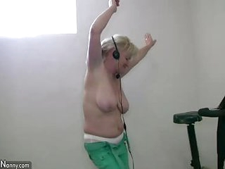 Old granny chubby nude dancing