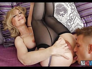 Blonde MILF In Sexy Lingerie Nina Hartley