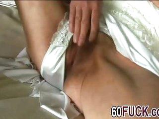 Blonde granny blowjob doggy style fuck masturbating