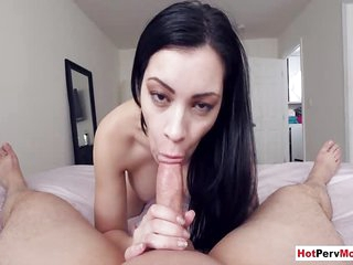 Latina MILF stepmom wants a bigger cock and want it now