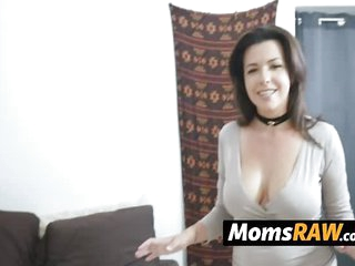 Kinky milf catches her horny stepson