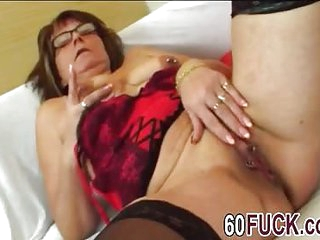 Granny with glasses get fucked hard