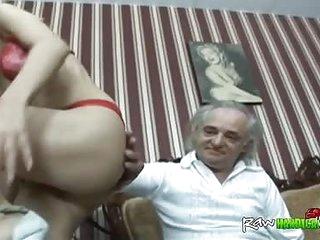 Old fart enjoys fucking a cheap whore