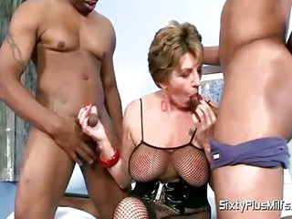 Give me two hard cocks for this mature lady who need all the dick she can get to get off
