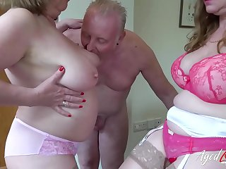 AgedLove Lily and Trisha in hard threesome with boyfriend