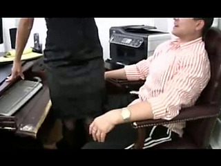 GoldenHaired whore mama copulates her boss