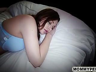 Perverted son gropes & fucks s. mom