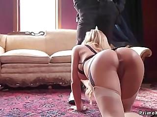 Huge tits blonde step mom has anal threesome bdsm