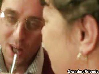 fuck video Two dudes seduce mature plumper