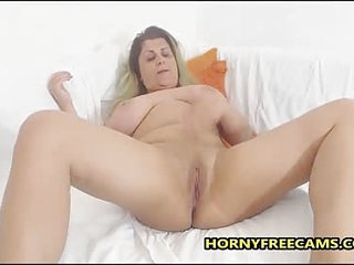 Busty Chubby Mature Enjoys Dildo Time