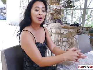 Small titted asian mature stepmom fucked by her stepson