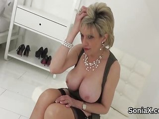 Adulterous british mature lady sonia presents he