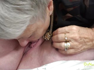 OldNannY Lesbian Mature Sex with Electric Toys