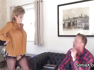 Unfaithful british mature lady sonia shows off h