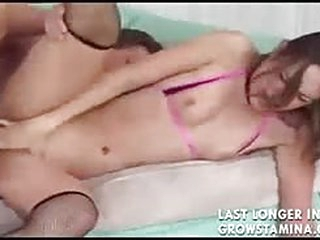 Young brunette takes hardcore anal from her older BF