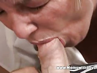 Very naughty step mom catches her stepson masturbating so she helps him out