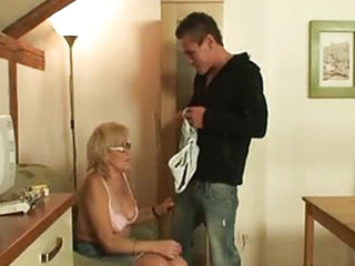 He has no way to pay rent but lucky for him that this old mom has some thing in mind