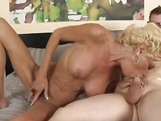 A mature woman only sucks on young cock and she has magic lips