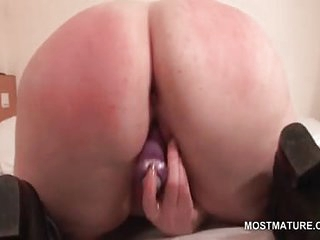 Big boobs mature fucks herself with sex toys