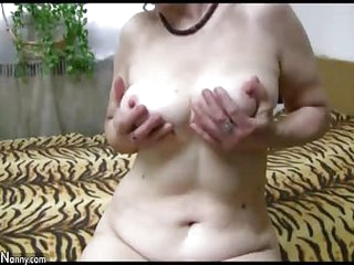 OldNannY Well Aged Mature Blowjob and Toys