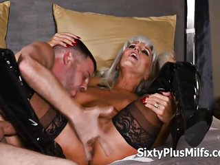 Horny Dude Smashed a Sexy Mature Whore With His Young Cock In Her Old Love Box