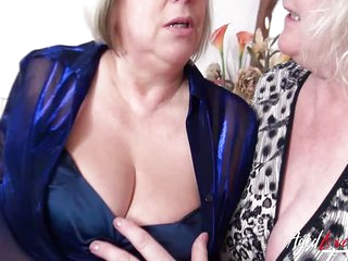 AgedLovE Group Orgy of Two Mature Couples Together